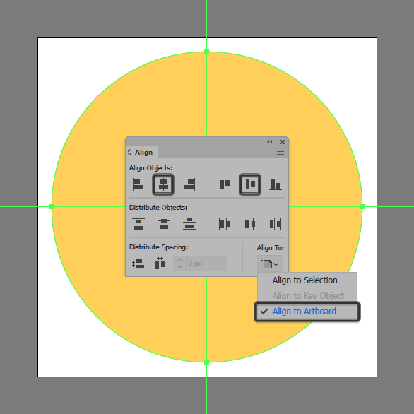 create and center align circle