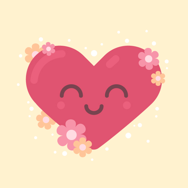 smiling heart final image