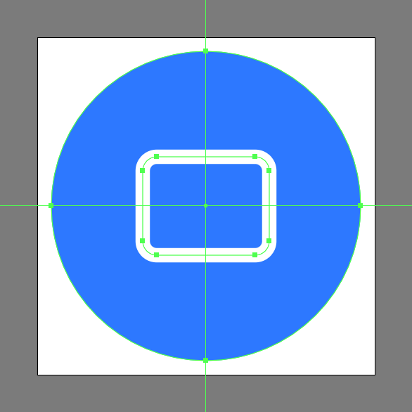 add the cast icon's main shape using a rounded rectangle