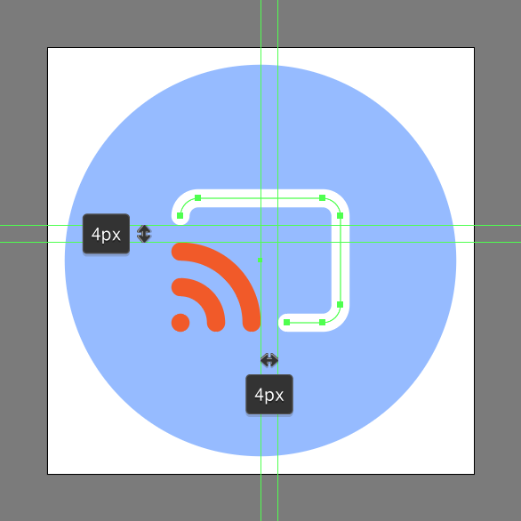 remove anchor points of the rounded rectangle