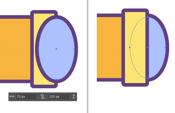 add lens with ellipse tool