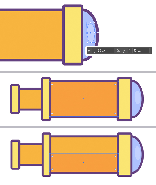 create smaller ellipse and add shadow detail