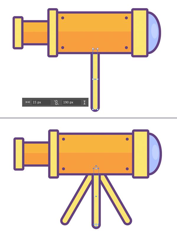 add legs using rectangle tool