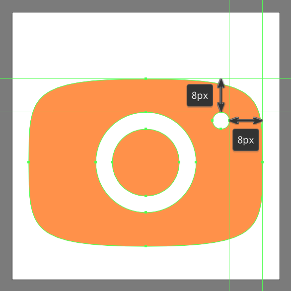 create flash cutout using Minus Front Shape Mode