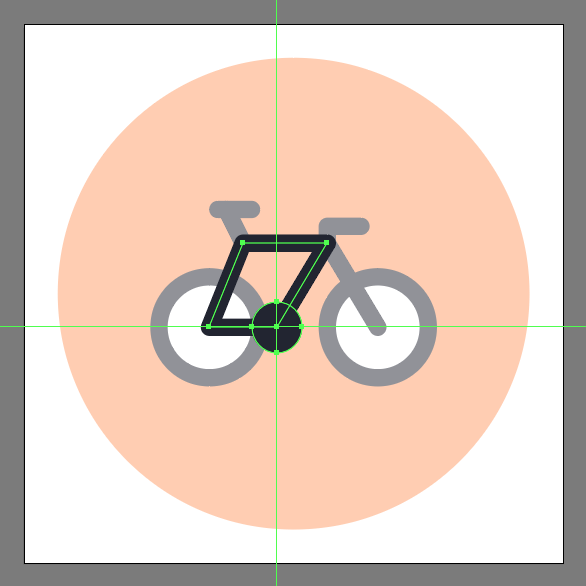 use circle to add bicycle icon's crank