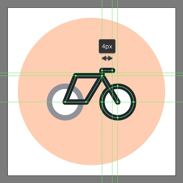 use the pen tool to draw the handle and front fork