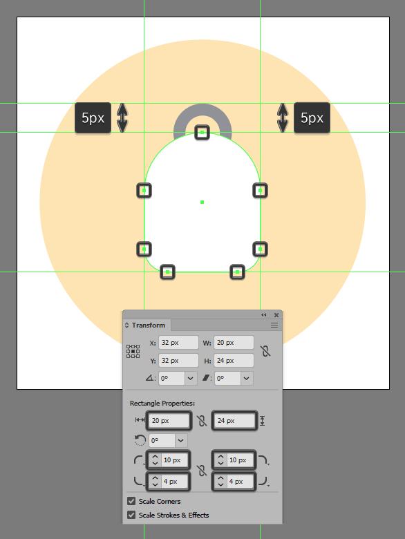 create backpack icon shape