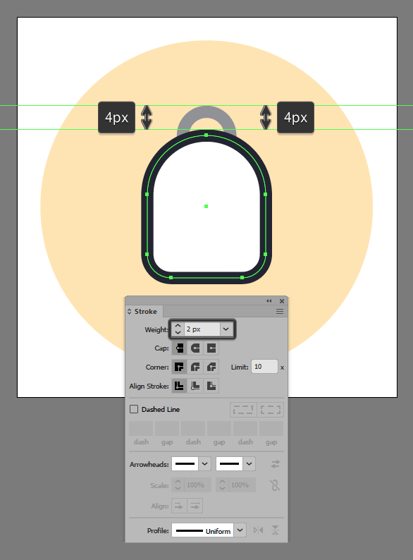 outline backpack icon shape