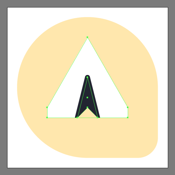 creating the plane shape for inbox send icon