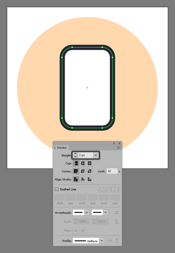 Phone Shape Outline
