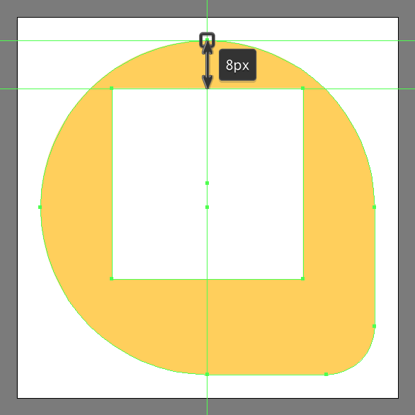 creating the plane shape for the inbox send icon