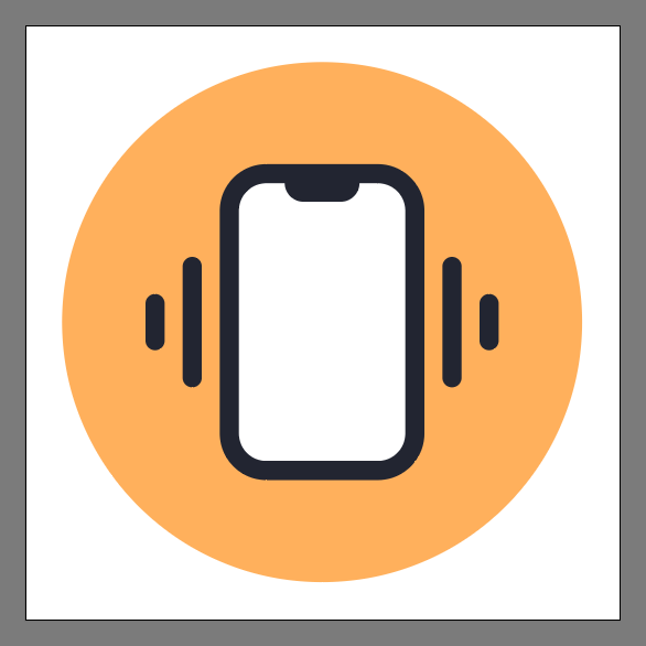 Phone Vibrate Icon Final Image