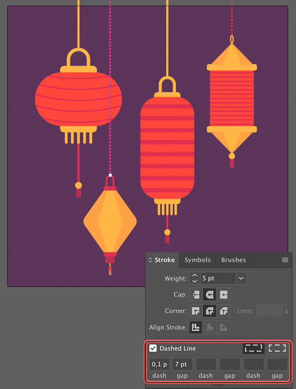 arrange Chinese Lanterns