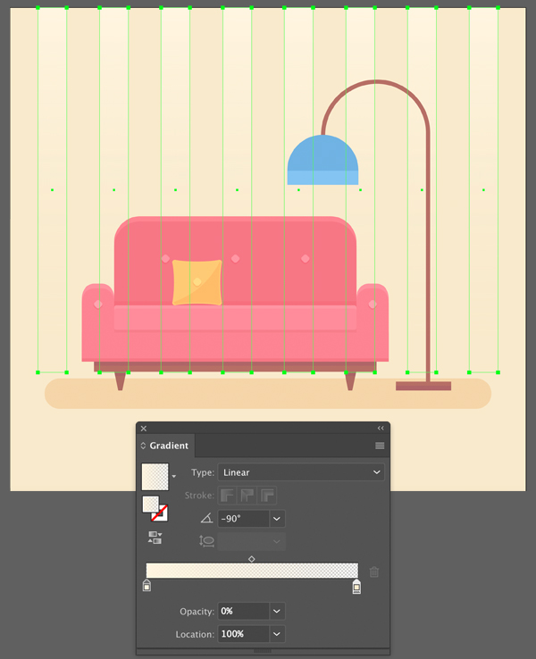 Interior Scene Background Gradient