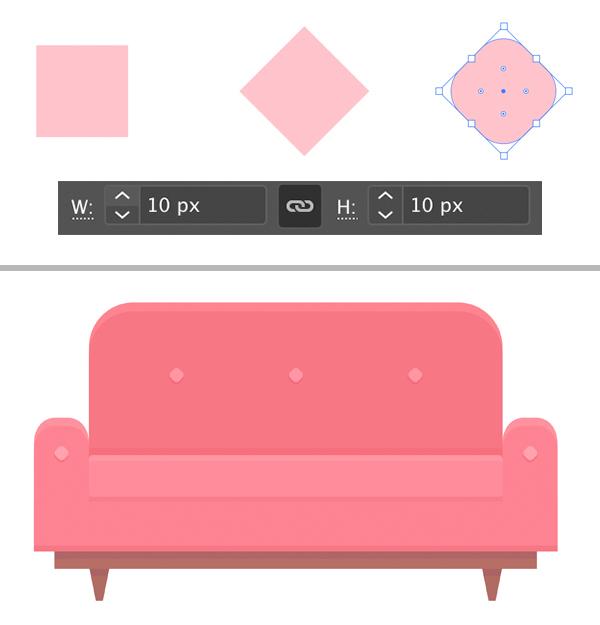 Interior Scene Cozy Couch Details