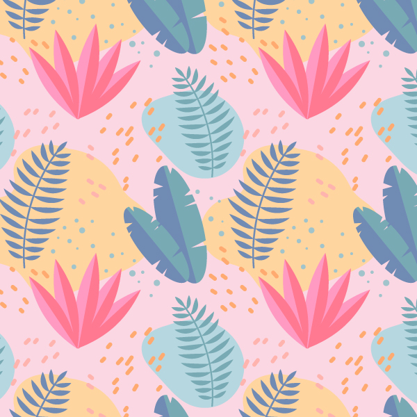 Tropical Summer Seamless Pattern Final Image