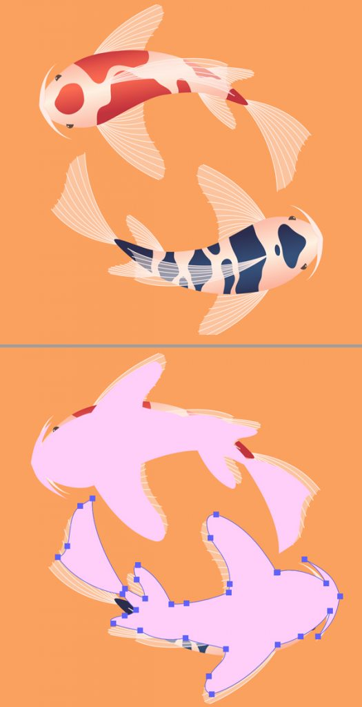 Duplicate Koi Fish