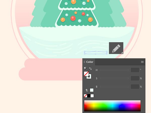 Christmas Tree Glass Ball Snow