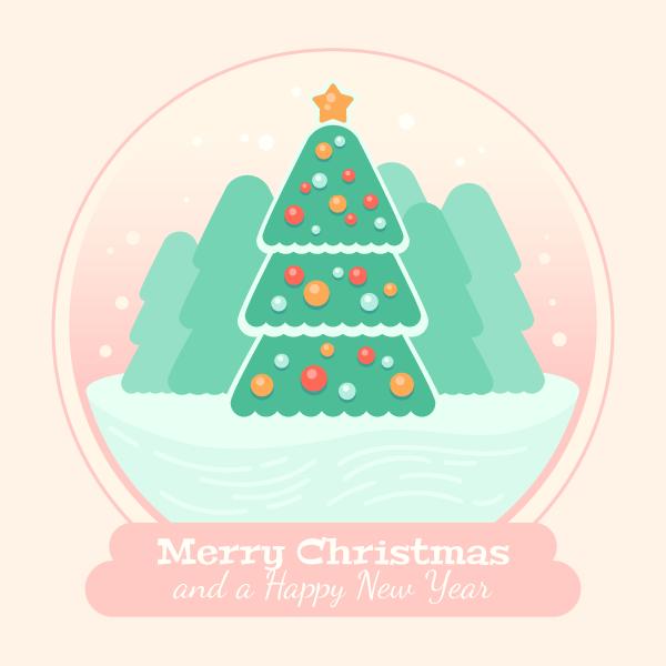 Christmas Tree Glass Ball Final Image