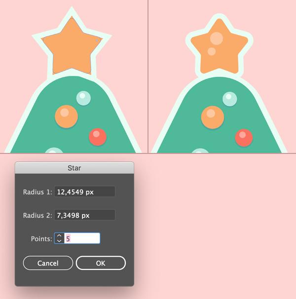 Christmas Tree Glass Ball Star topper