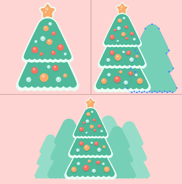 Christmas Tree Glass Ball Trees