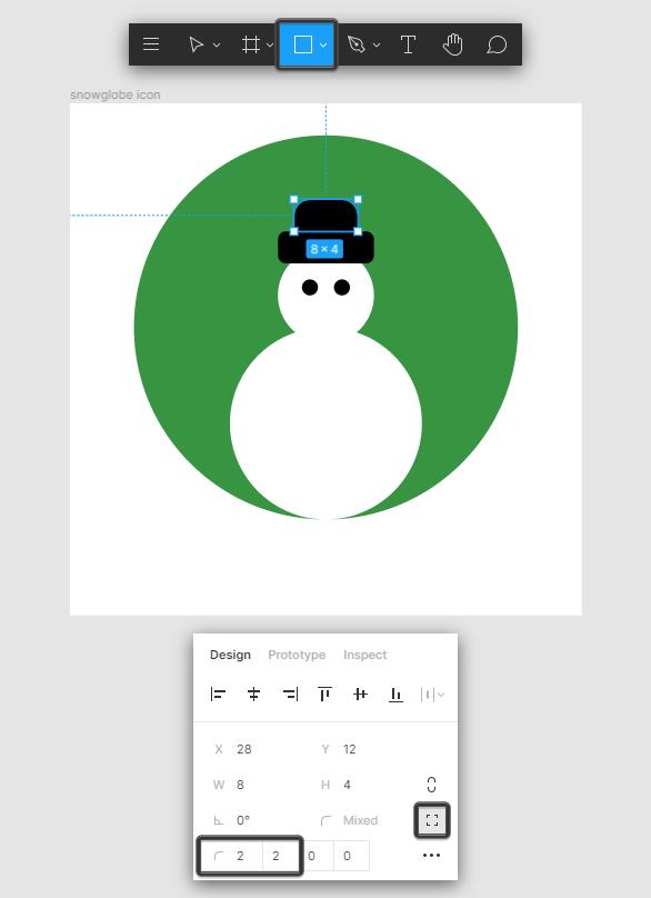 Snow Globe Icon Hat