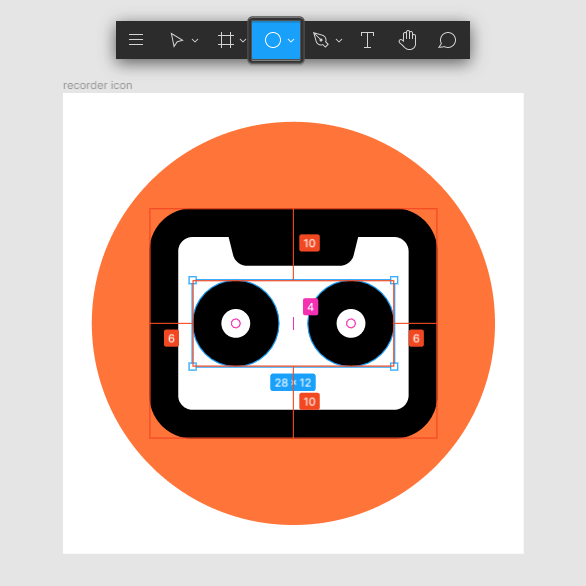 recorder app icon reel wheels