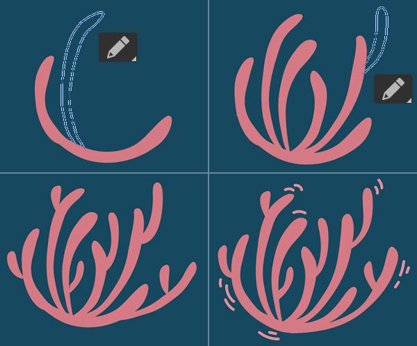 Ocean design coral